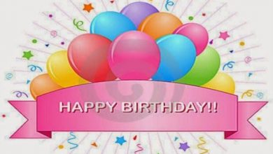 Happy birthday greeting words Image 390x220 - Happy birthday greeting words Image