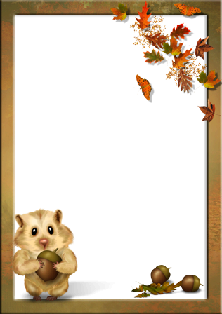Autumn Portrait photo frame - Autumn Portrait photo frame