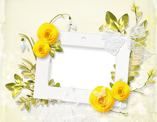 Bright yellow flowers photo frame - Bright yellow flowers photo frame