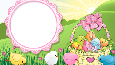 Cute Easter chicks and funny Easter eggs photo frame 390x220 - Cute Easter chicks and funny Easter eggs photo frame