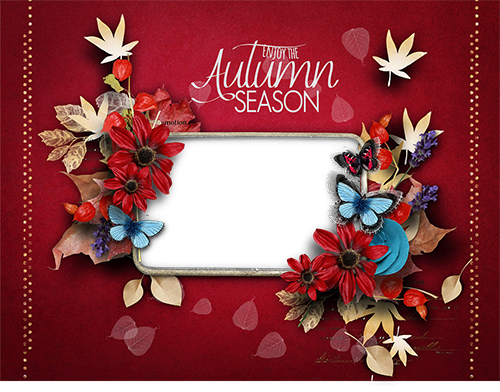 Enjoy the Autumn season photo frame - Enjoy the Autumn season photo frame