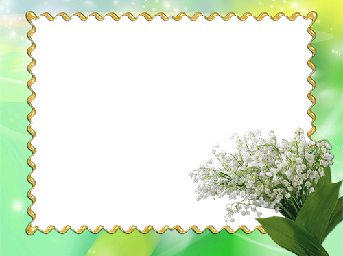 Flowers photo frame with snowdrops photo frame - Flowers photo frame with snowdrops photo frame