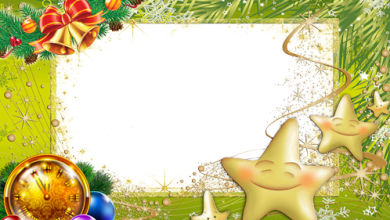 New Year tree made from stars photo frame 390x220 - New Year tree made from stars photo frame