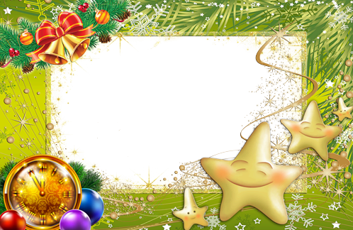 New Year tree made from stars photo frame - New Year tree made from stars photo frame