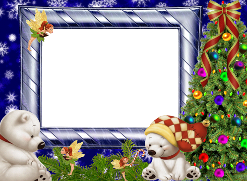 Winter frost decorations photo frame - Winter frost decorations photo frame