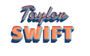 Taylor Swift 3D Letter PNG Name 300x188 - How Previous Is Taylor Swift, and How Many Albums Has She Launched?